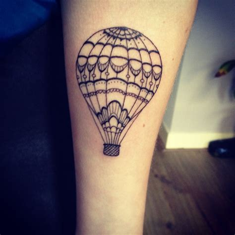 hot air balloon tattoo designs balloon on air balloon