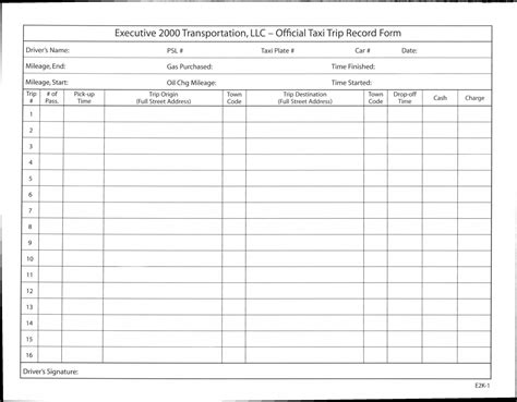 truck drivers trip sheet template best photos of truck driver log sheets printable truck