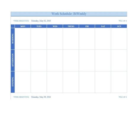 weekly schedule template for 26 blank weekly calendar templates pdf excel word ᐅ