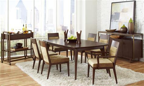 walnut dining room modern harmony burnished walnut rectangular leg dining