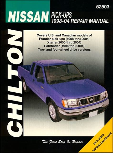motor auto repair manual 1998 nissan pathfinder user handbook nissan frontier xterra pathfinder repair manual 1998 2004