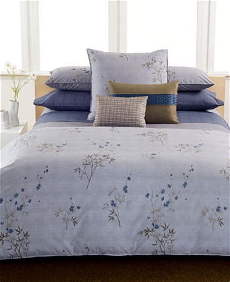calvin klein bed set calvin klein home bamboo flowers bedding collection