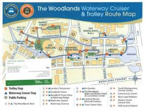 the woodlands waterway cruiser trolley map