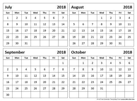 july october  calendar qualads