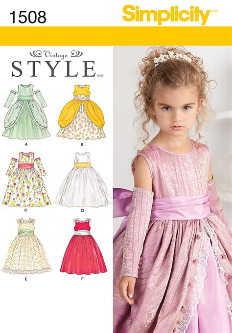 pattern dress child simplicity 1508 child s special occasion dress