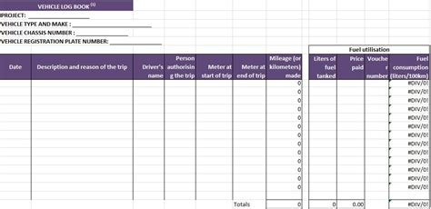 driver log book template truck driver log book excel template free crunch template
