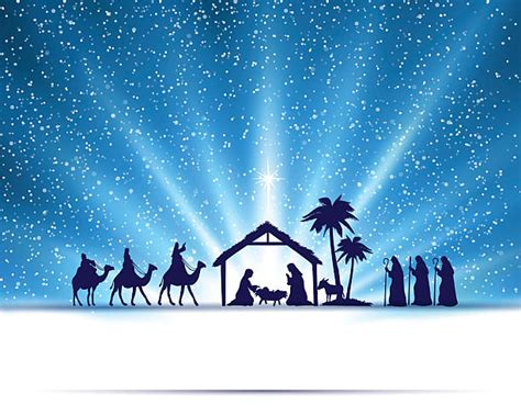 presepe clipart nativity clip vector images illustrations
