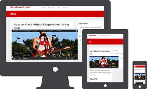 responsive layout youtube embed tutorials archives developer s note