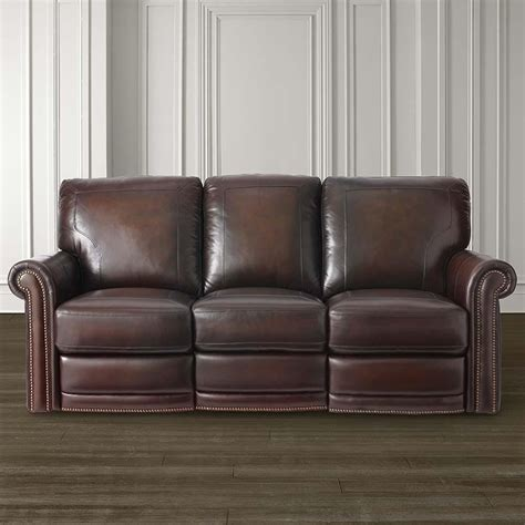 bassett leather sofas bassett 3958 62mls hamilton motion sofa discount furniture
