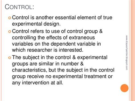 experimental design control group experimental research design