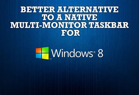 Windows 7 Dual Monitor Taskbar How To Extend Windows 7