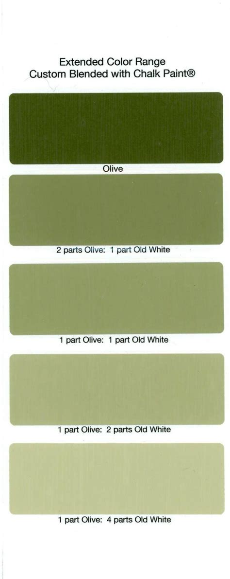 olive color paint numberedtype