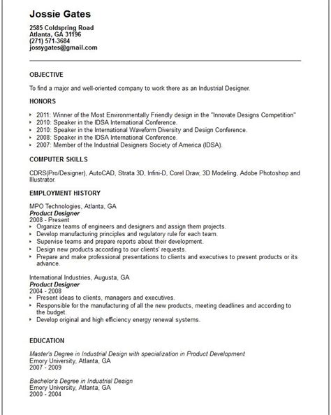 resume exle graphic design careerperfect 28 images
