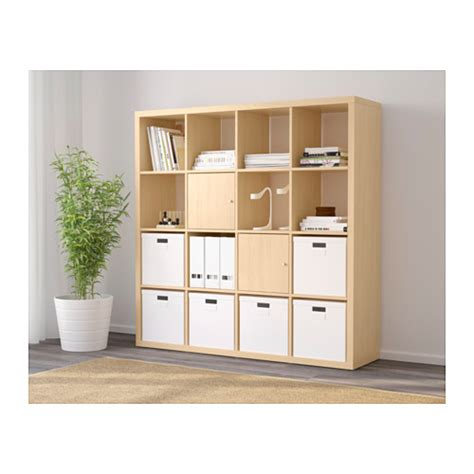 kallax shelving unit birch effect 147x147 cm ikea