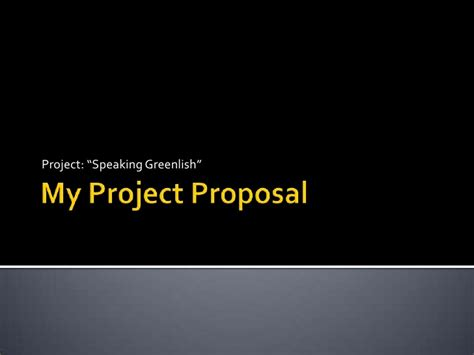 my project proposal ppt