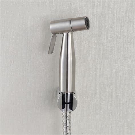 bidet jet spray brushed nickel stainless steel toilet handheld