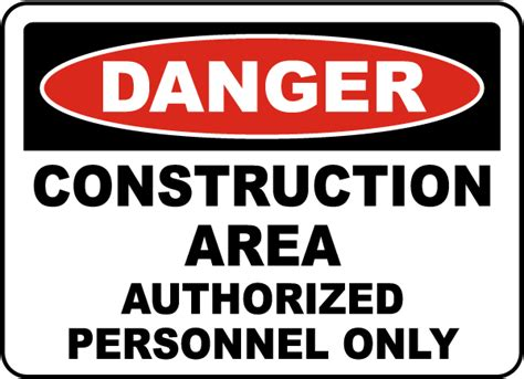 Baustellenschild Englisch by Danger Construction Area Sign Construction Safety Signs