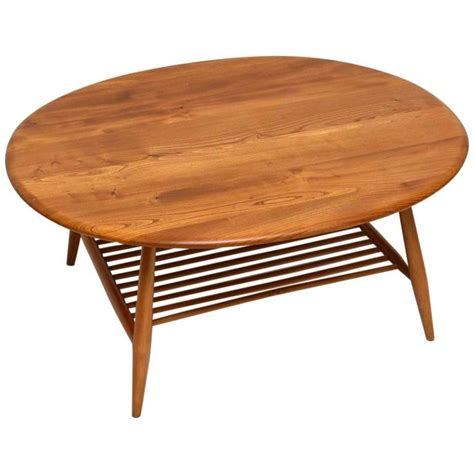ercol coffee table retro large solid elm coffee table by ercol vintage 1960s at 1stdibs