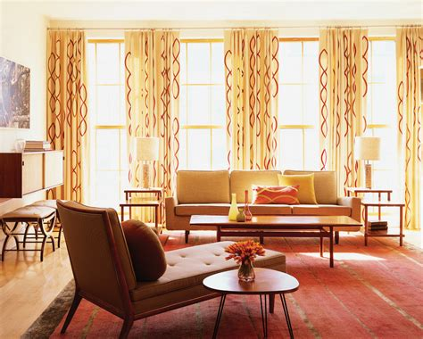 modern living room drapes mid century modern curtains living room midcentury with