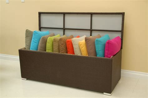 pillow storage patio furniture accessories outdoor pillow storage box