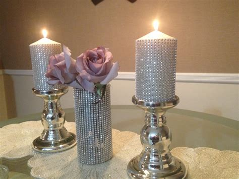 candle centerpieces for home bling wedding decor crystal centerpieces rhinestone