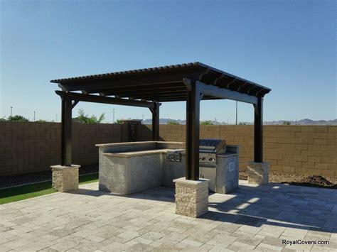 Freestanding Alumawood pergola in Gilbert, AZ