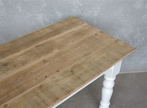 reclaimed pine kitchen table bespoke reclaimed pine scrub top kitchen table drawer