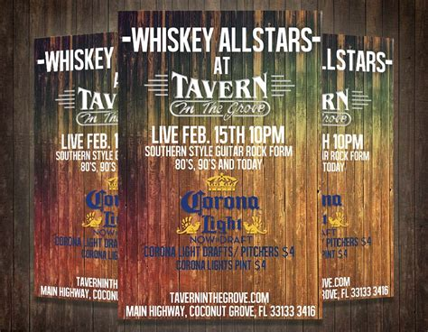Tavern Party Flyer Template Psd Graphicfy Rustic Flyer Template