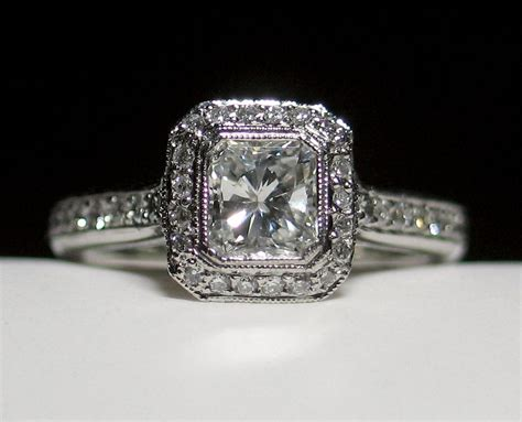 the gallery for gt radiant cut engagement rings