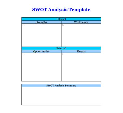 Swot Analysis Template 47 Free Word Excel Pdf Ppt Swot Template Free