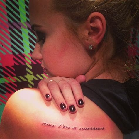 new tattoo feels hot what do we think of demi lovato s new tattoo today s