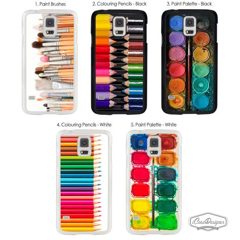 Painting Phone Plastic For Samsung Galaxy S4 C41 artist watercolour paint palette colouring pencil