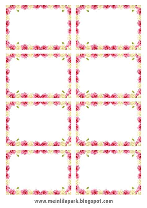 Fingernägel Design Vorlagen Pink Free Digital Frame Png Printable Tags Rosenrehmen Freebie Meinlilapark