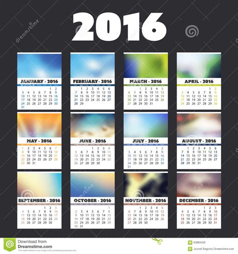 creative calendar cover calendar template 2016