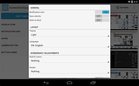 screenshot on android tablet screenshot easy android apps on play