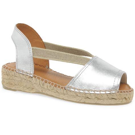 Sandal Wanita Trendy Garsel L 360 toni pons eli a espadrille peep toe sandals charles clinkard