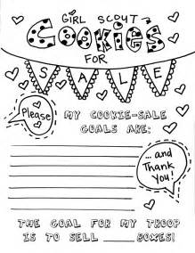 Printable Scout Cookie Coloring Pages free scouts thank you coloring pages