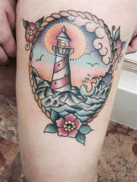 traditional lighthouse tattoo traditional lighthouse tattoos