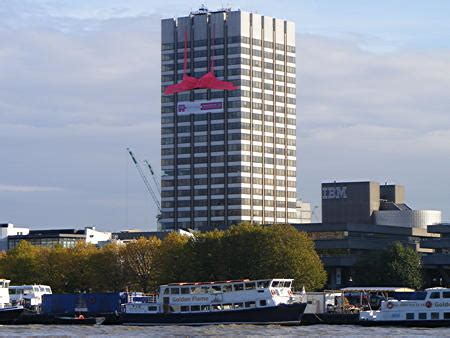giant pink bra installed  itvs south bank tower