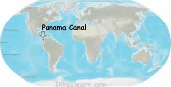 Panama Canal On World Map panama canal