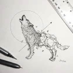 intricate drawings wild animals fused geometric shapes bored panda