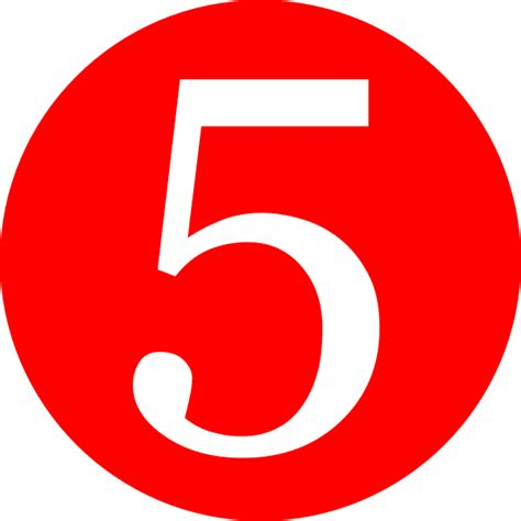 red rounded with number 5 clip art at clker com vector