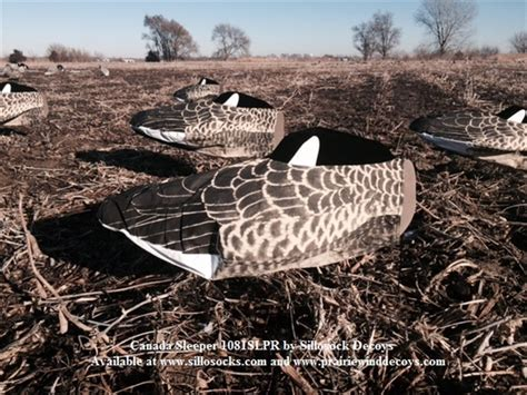 Sleeper Goose Decoys by Prairiewind Decoys Sillosocks Canada Goose Sleeper