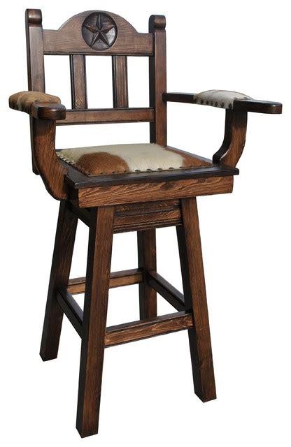 Cowhide Counter Stools - western swivel stool cowhide southwestern bar