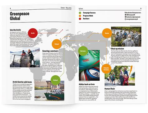 greenpeace magazine greenpeace connect magazine print design progression