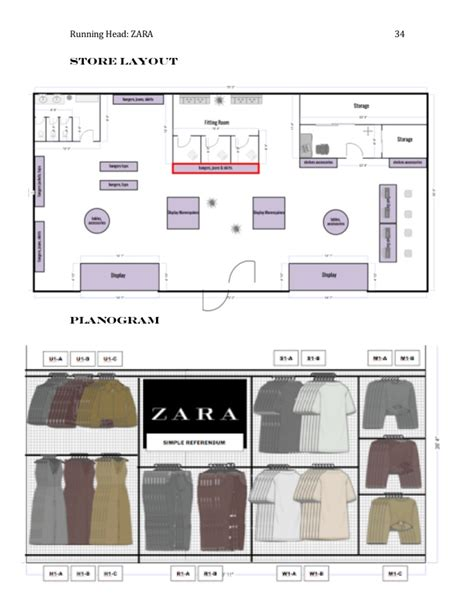 layout of zara fashion merchandising seminar zara
