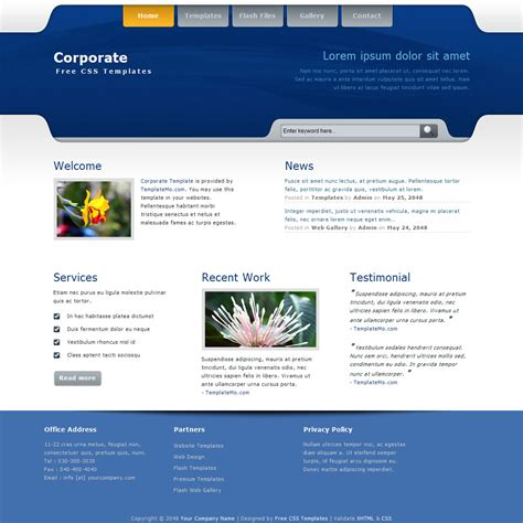 corporate templates template 222 corporate