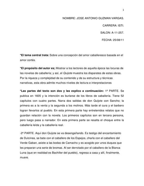 resumen del libro don quijote dela mancha por capitulos pdf resumen de don quijote de la mancha