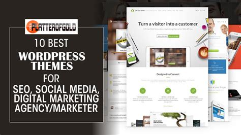 wordpress themes for seo marketer social media digital