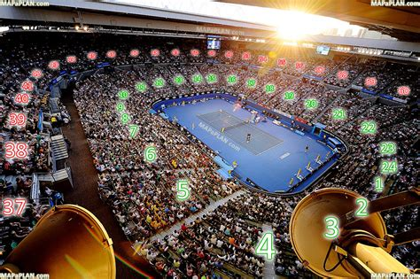 Basketball Arena Floor Plan by Melbourne Rod Laver Arena Australian Open Tennis Court